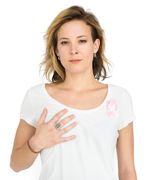 Portrait de sensibilisation au cancer du sein PSD Premium