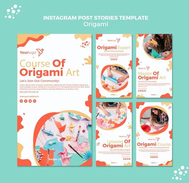 Post Instagram Origami Psd gratuit