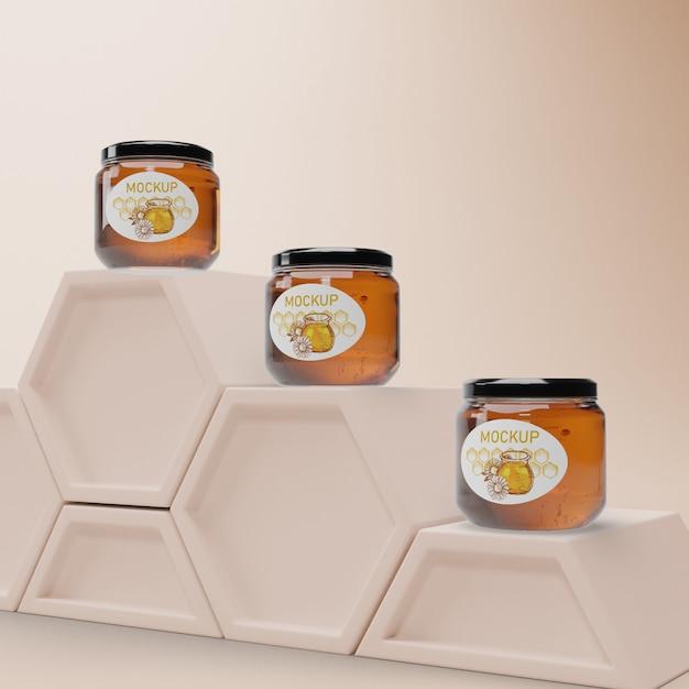 Pots à Miel En Nid D'abeille Psd gratuit