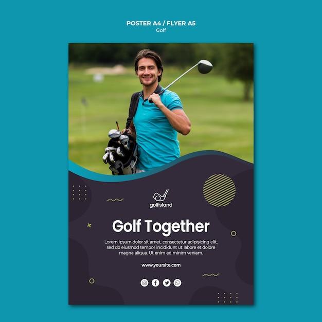 Pratiquer Le Golf Style Flyer Psd gratuit