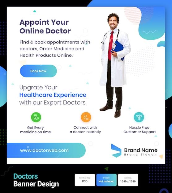 Prenez Rendez-vous Avec Votre Médecin En Ligne PSD Premium