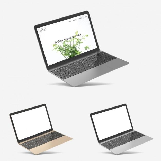 Présentation Réaliste Macbook Psd gratuit