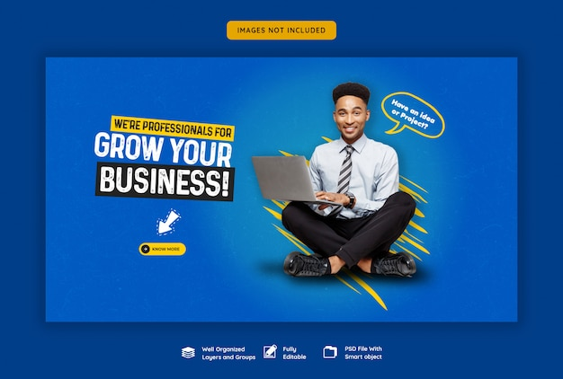 Promotion Commerciale Et Modèle De Bannière Web D'entreprise PSD Premium