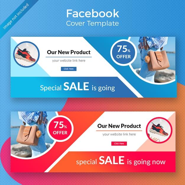 Promotion de produits faacebook cover design PSD Premium