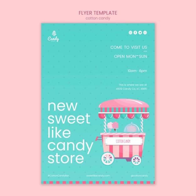 Prospectus de modèle de magasin de bonbons Psd gratuit
