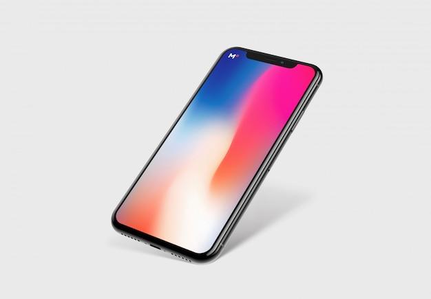 Prototype de smartphone avec maquette d'écran PSD Premium