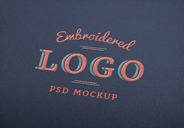 Psd élégant logo de maquette Psd gratuit