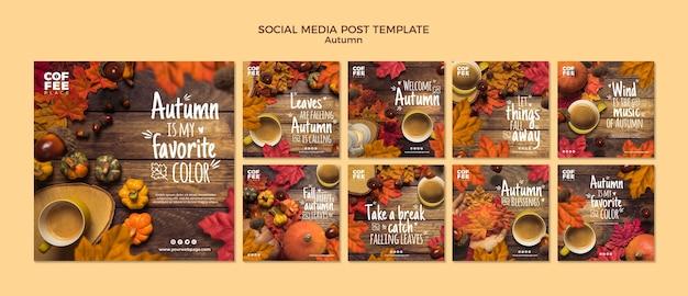 Publication D'automne Sur Les Réseaux Sociaux Psd gratuit