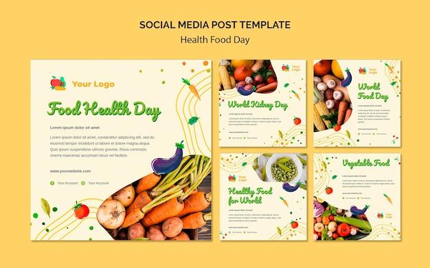 Publication Sur Les Médias Sociaux De La Journée De L'alimentation Santé Psd gratuit