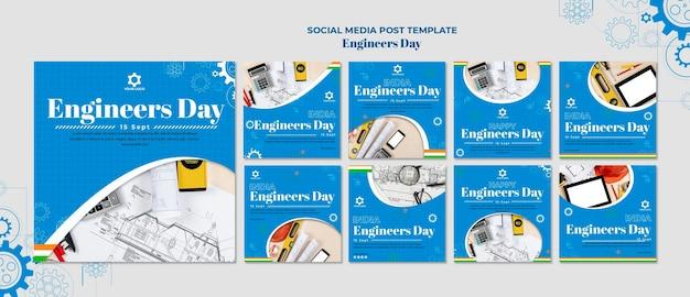 Publication Sur Les Médias Sociaux De La Journée Des Ingénieurs PSD Premium