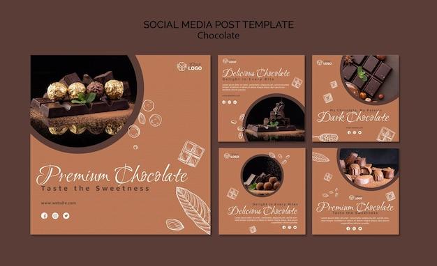 Publication Sur Les Réseaux Sociaux De Chocolat Premium Psd gratuit