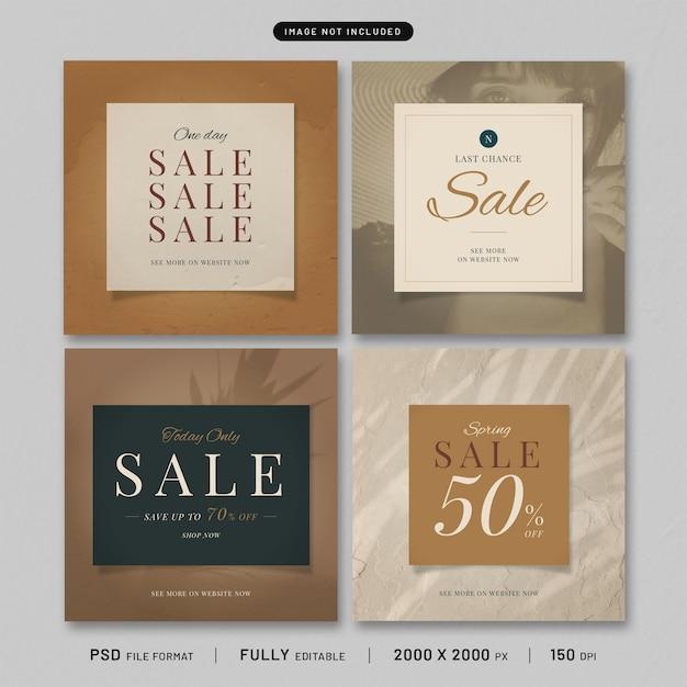 Publication Sur Les Réseaux Sociaux Natural Fashion Premium PSD Premium