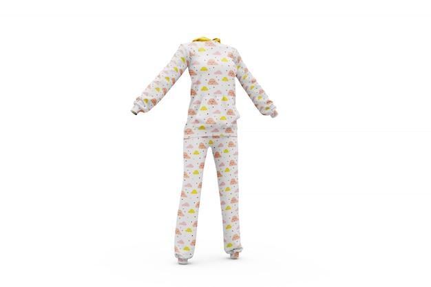 Pyjama maquette isolé Psd gratuit