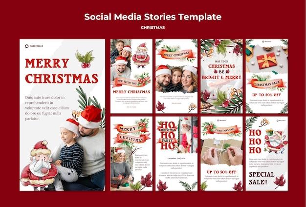 Que Votre Noël Soit Des Histoires Instagram Lumineuses Et Joyeuses PSD Premium