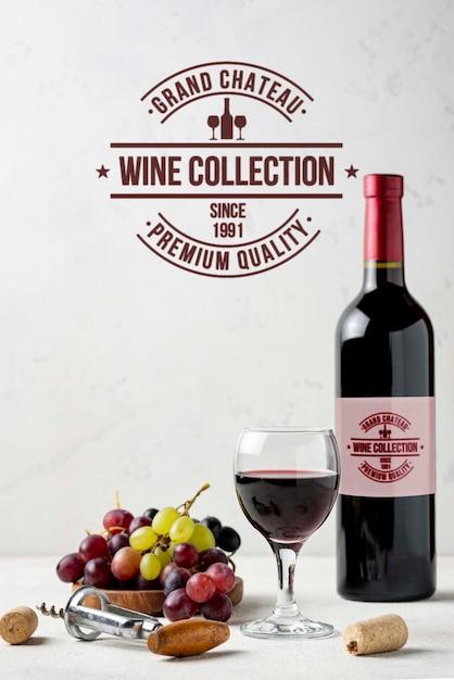 Raisins Biologiques Pour Le Vin Psd gratuit