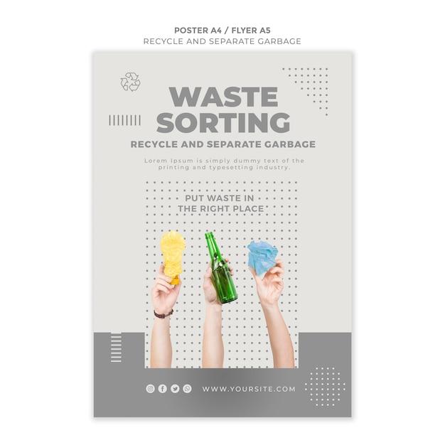 Recycler La Conception De Modèle De Flyer Concept Psd gratuit