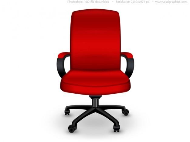 De Chaise Bureau IcôneTélécharger Red Gratuitement Psd jqSVGzpLUM