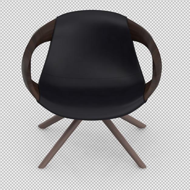 Rendu 3d du fauteuil isométrique PSD Premium
