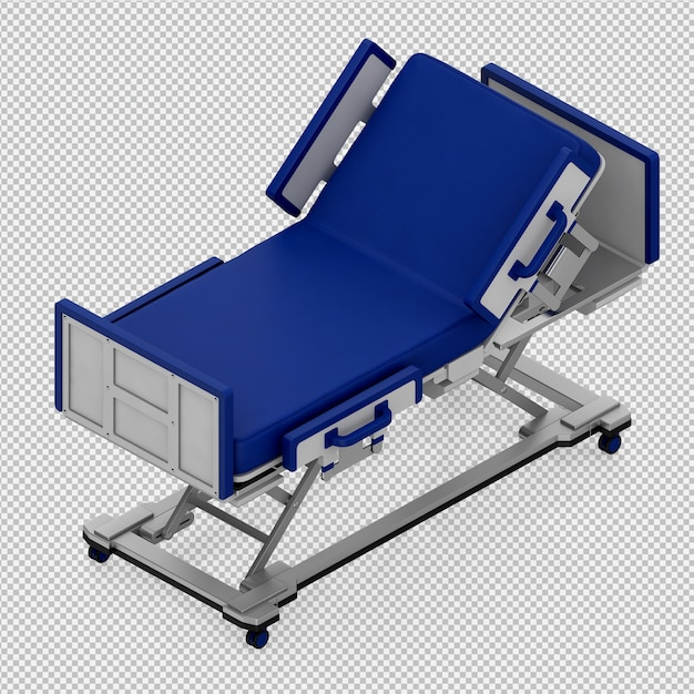 Rendu 3d d'équipement médical isométrique PSD Premium