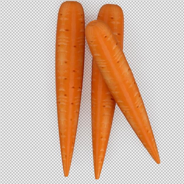 Rendu 3d isométrique de carottes PSD Premium