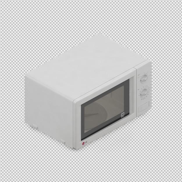 Rendu 3d isométrique à micro-ondes PSD Premium