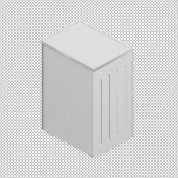 Rendu 3d de machine à laver isométrique PSD Premium