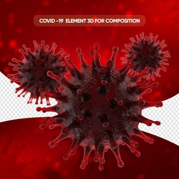 Rendu Cellulaire Réaliste Du Virus Corona PSD Premium