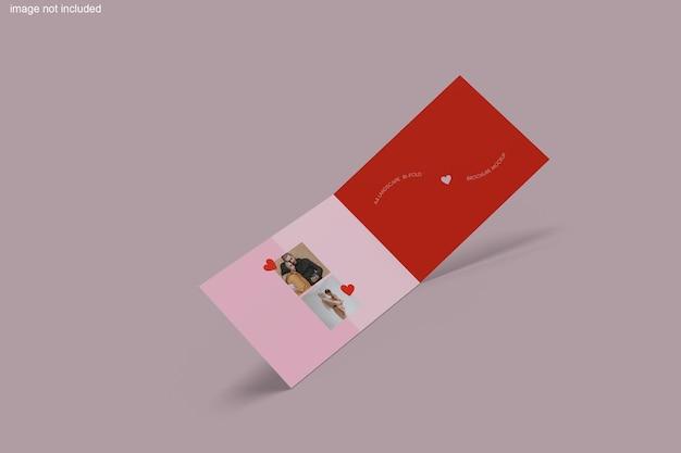 Rendu De Conception De Maquette De Brochure En Deux Volets PSD Premium