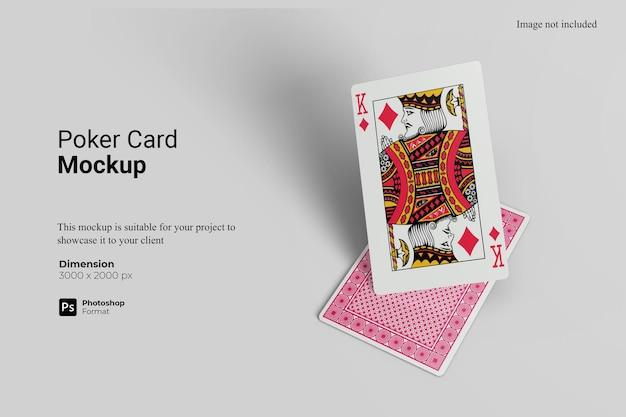 Rendu De Conception De Maquette De Carte De Poker PSD Premium