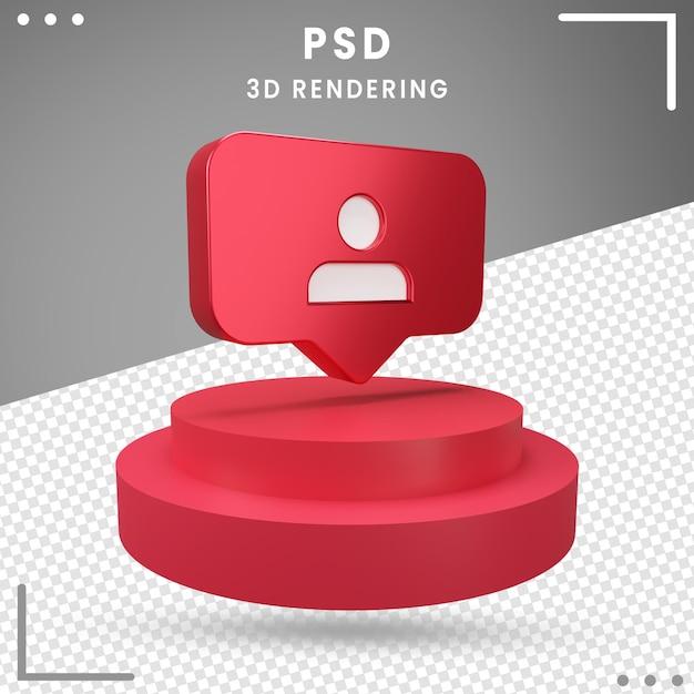 Rendu Du Logo 3d Avec Rotation Des Abonnés Instagram PSD Premium