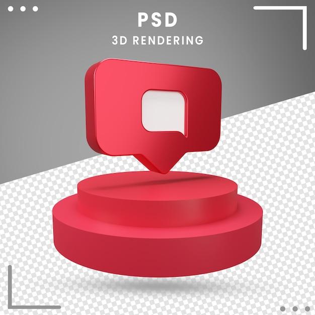 Rendu Du Message Logo Pivoté 3d Instagram PSD Premium