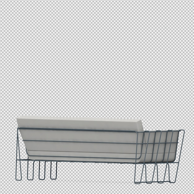 Rendu isométrique canapé 3d PSD Premium