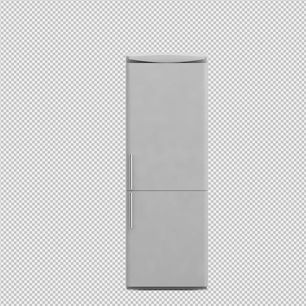 Rendu isométrique réfrigérateur 3d PSD Premium