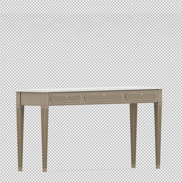 Rendu isométrique de table 3d PSD Premium
