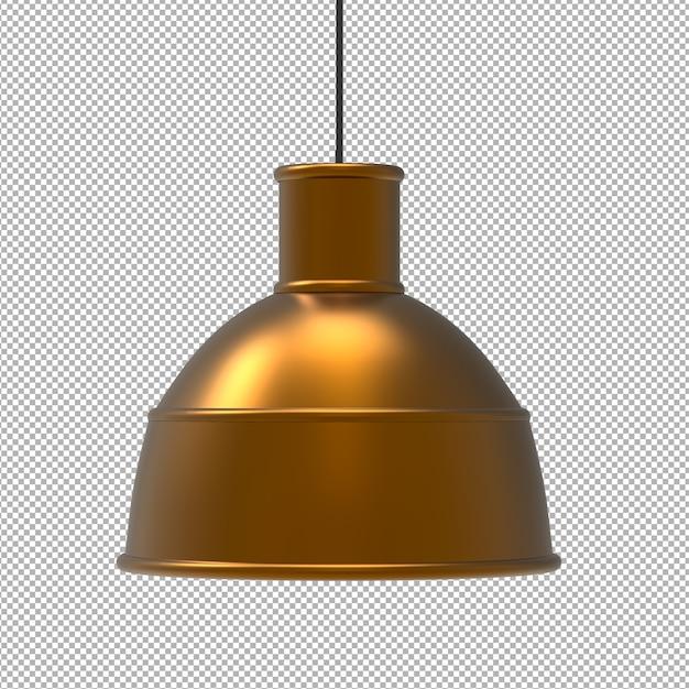 Rendu De Plafonnier Isolé. Vue De Face Isométrique. Mur Transparent. Premium 3d. PSD Premium