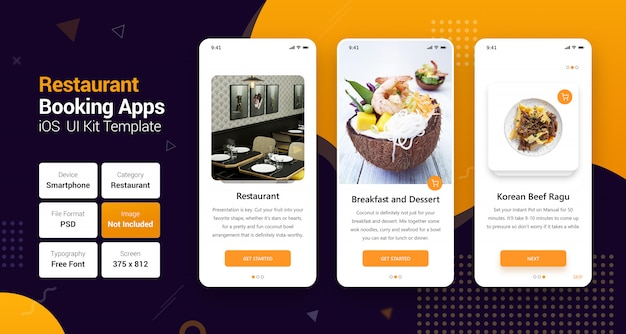 Réservation en ligne et livraison à domicile des applications mobiles PSD Premium