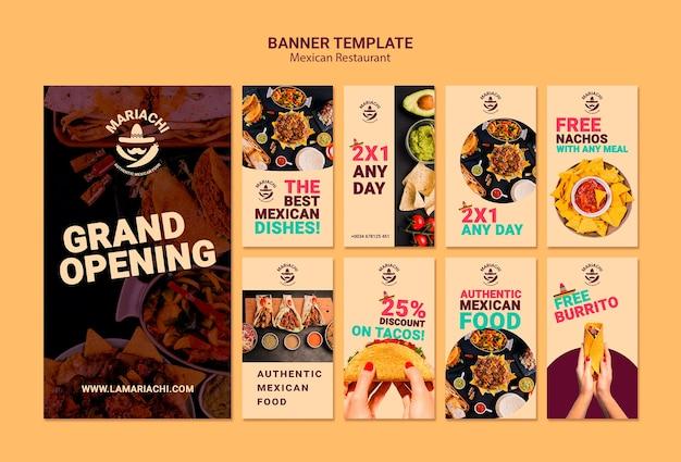 Restaurant Mexicain De Plats Traditionnels Histoires Instagram Psd gratuit