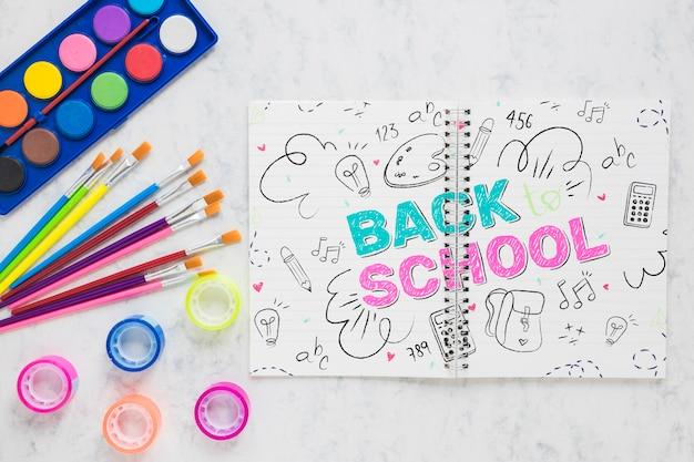 Retour à L'école Avec Des Aquarelles Psd gratuit