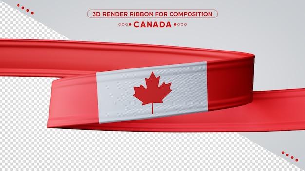 Ruban De Rendu 3d Canada Pour La Composition PSD Premium