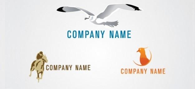 Sans logo animale modèle de conception ensemble Psd gratuit
