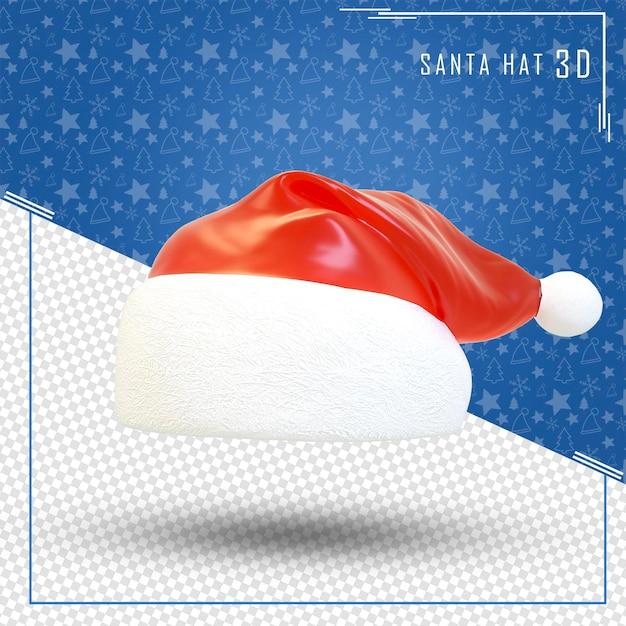 Santa Hat 3d Joyeux Noël Isolé PSD Premium