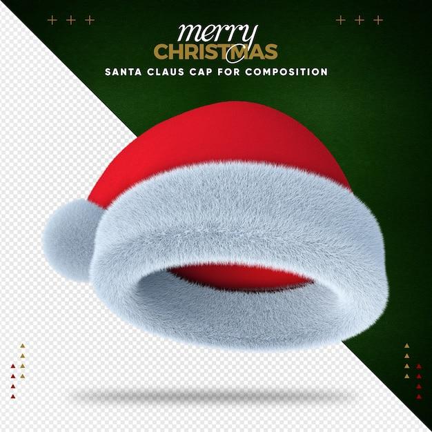 Santa Hat 3d Joyeux Noël Pour La Composition PSD Premium