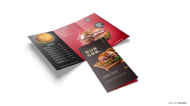 Scène De Brochure Ouverte Et Fermée à Trois Volets PSD Premium