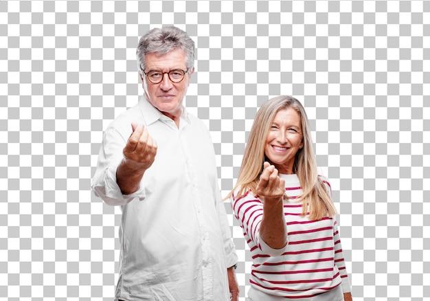 Senior mari et femme cool, fière et satisfaite PSD Premium