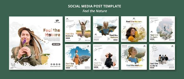 Sentez-vous Le Modèle De Publication Instagram Nature Psd gratuit