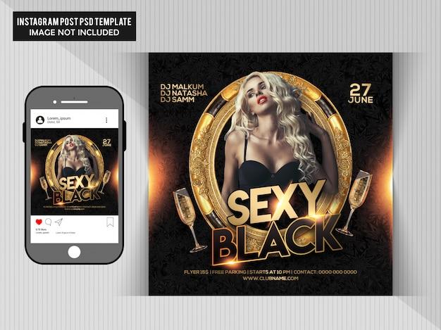 Sexy black party flyer PSD Premium