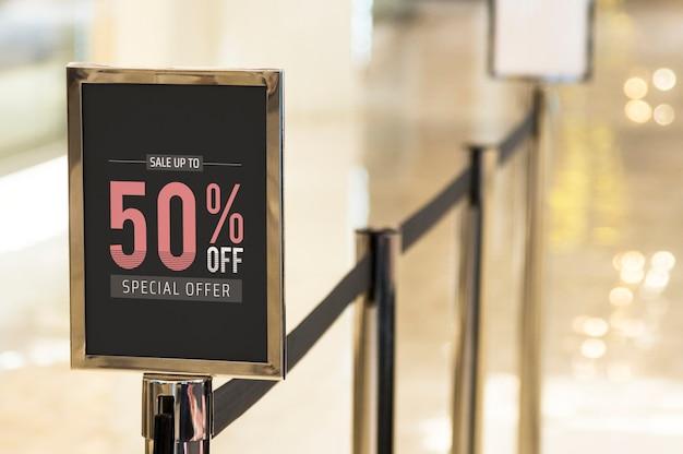 Signalisation discount boutique Psd gratuit