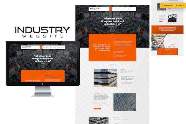 Site Web De L'industrie PSD Premium