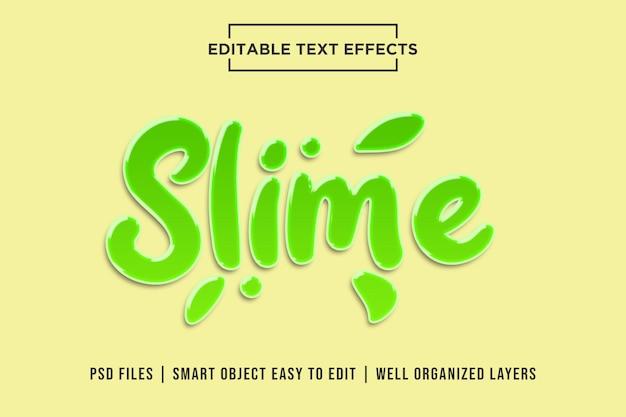 Slime style de texte 3d PSD Premium
