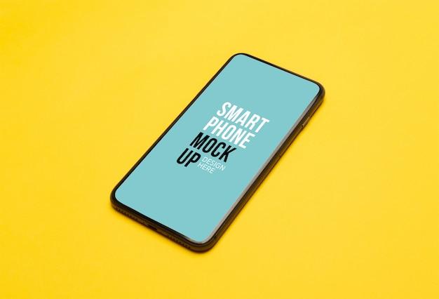 Smartphone Noir Avec Maquette D'écran PSD Premium